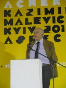 Prof. Andréi Nakov speaking about Polish roots of Kazimir Malevich