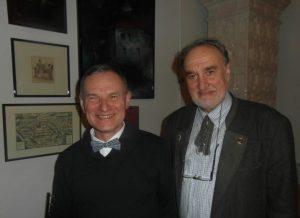 Dyrektor Narodowej Galerii Sztuki we Lwowie Taras Woźniak i dr Józef Grabski