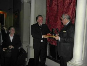 Prof. Joannides receives the surprise edition