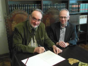 The presidents of both foundations, Dr. hab. Marcin Wolski and Dr. Józef Grabski
