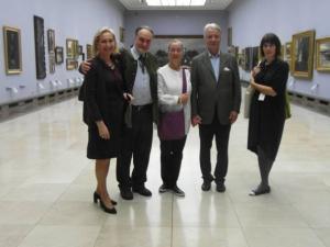 Elisabeth Sturm, Dr. Józef Grabski, Dr. Agnes Husslein, and on the right Urszula Kozakowska Zaucha
